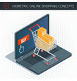 concept about online shopping vector image vector image