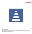 cone icon - blue photo frame vector image