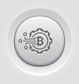 crypto technology icon vector image vector image