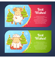 Cute winter Chinese new year card vector image vector image