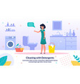 detergents for bathroom cleaning banner vector image vector image