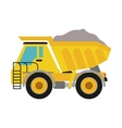 Dump truck icon Under construction concept vector image