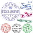 exclusive stamp vector image vector image