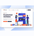 flat modern design website template - customer vector image