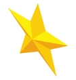 Gold metal five-pointed star icon vector image