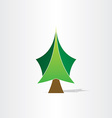 green christmas tree icon design vector image vector image