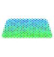 halftone blue-green treasure brick icon vector image