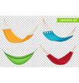 hammock set realistic transparent vector image vector image