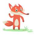 happy cartoon fox character vector image vector image