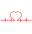 heart palpitations pulse vector image