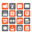 Hotel Amenities Services Icons vector image vector image