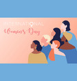 international-womens-day vector image vector image