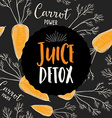 Juice banner design restaurant template vector image