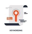 keywording vector image