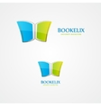 logo of open book vector image vector image