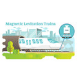magnetic levitation train concept vector image