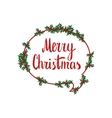 Merry Christmas Hand drawn design element vector image vector image