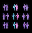 modern couples pictograms vector image vector image