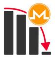 monero panic fall chart flat icon vector image vector image