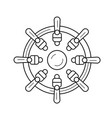 nautical wheel line icon vector image vector image