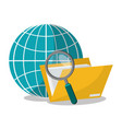 network and business related icons vector image