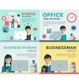 New job search and stress work infographic vector image vector image