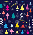 new pattern christmas trees vector image vector image