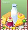 organic food isometric composition vector image vector image