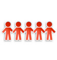 paper people vector image vector image
