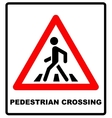 Pedestrian Symbol isolated on vector image vector image