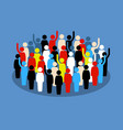 people in the crowd raising hand to show support vector image vector image