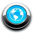 Planet 3d round button vector image vector image