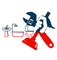 plumbing repairs and cleaning vector image vector image