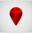 red technology gps map pointer vector image vector image