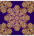 Rich gold seamless pattern in the Indian style vector image vector image