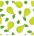 seamless pattern with pears isolated on white vector image vector image
