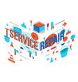 service repair flat banner design vector image vector image