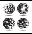 set abstract halftone 3d spheres 25 vector image vector image