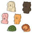 set of animal eraser vector image