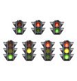 set of realistic traffic lights for cars and vector image