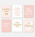 set simple hand drawn valentines cards vector image