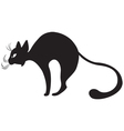 silhouette of black cat in profile vector image vector image