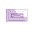 silhouette retro cassete to listen kind music vector image