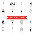 Simple Medical Icons and Symbols Set Isolated with vector image vector image