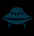 space ship mosaic icon of halftone spheres vector image vector image