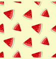summer seamless pattern with watermelon slices vector image vector image
