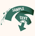 text ribbon frame vector image vector image