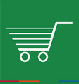 thin line shopping cart icon design vector image