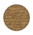 top of wooden barrel vector image vector image