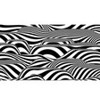 trendy 3d black and white stripes distorted vector image vector image